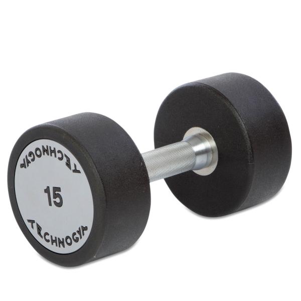 Гантель цельная полиуретановая Technogym TG-15 кг