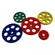 Диск олимпийский обрезиненный цветной 1,25-25кг Fitnessport RCP19