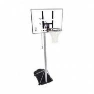 """Баскетбольная стойка (мобильная) Silver 44\"""" Rectangle Acrylic Spalding  59484CN"""