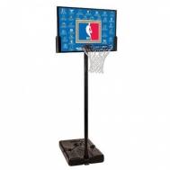 """Баскетбольная стойка (мобильная) NBA Teams 44\"""" Rectangle Composite Spalding  63501CN"""
