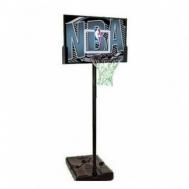 """Баскетбольная стойка (мобильная) NBA Logoman 44\"""" Rectangle Composite Spalding  63502CN"""