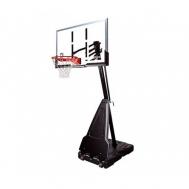 """Баскетбольная стойка (мобильная) Platinum 54\"""" Rectangle Acrylic Spalding  68490CN"""