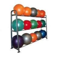 Стойка для фитболов металическая (серая, 09 мячей) Fitnessport Sf-09-fitbol