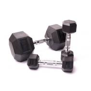 Гантельный ряд для кроссфита Fitnessport D-05 10-25kg (7 пар)