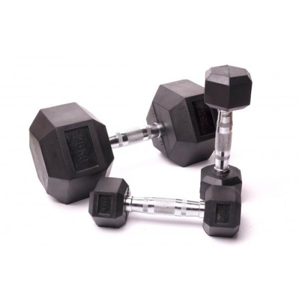 Гантельный ряд для кроссфита Fitnessport  D-05 2.5-25kg (10 пар)