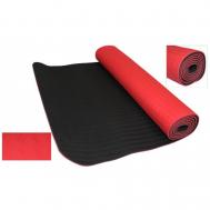 Коврик двухслойный красно-черный Fitnessport ZM 11-1