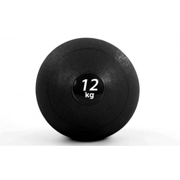 Мяч медицинский (слэмбол) SLAM BALL  12кг ( 23см,черный) Fitnessport Sb-01-slam-ball-12kg