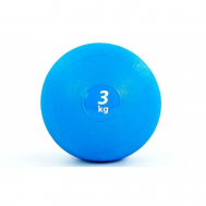 Мяч медицинский (слэмбол) SLAM BALL 3кг ( 23см, синий) Fitnessport Sb-01-slam-ball-3kg