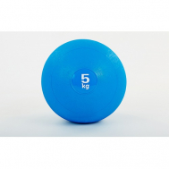 Мяч медицинский (слэмбол) SLAM BALL 5кг ( 23см, синий) Fitnessport Sb-01-slam-ball-5kg