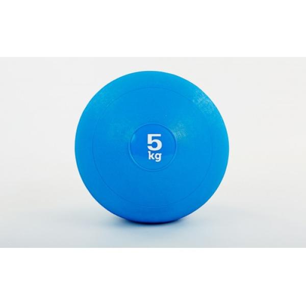 Мяч медицинский (слэмбол) SLAM BALL 5кг ( 23см, синий) Fitnessport Sb-01-slam-ball-5kg