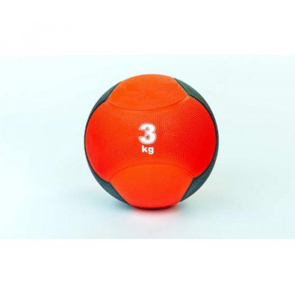 Мяч медицинский (медбол)  резина,21.5см,красно-черный 3кг Fitnessport Md 02-3Kg