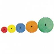 Диск пластик цветной Ф26мм 0,5 кг Inter Atletika SТ521-1