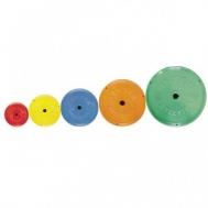 Диск пластик цветной Ф26мм 10 кг Inter Atletika SТ521-5