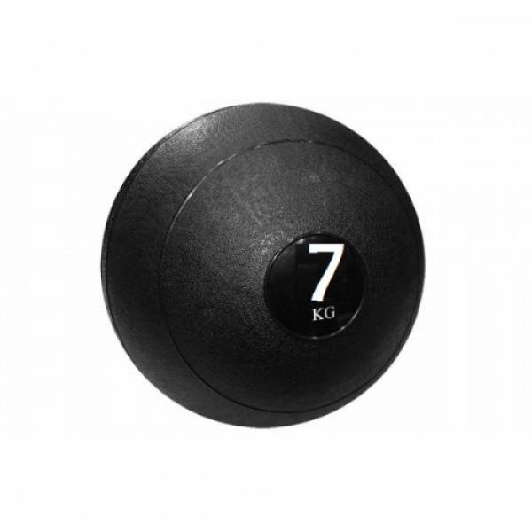 Мяч медицинский (слэмбол) SLAM BALL 7кг ( 23см,черный) Fitnessport Sb-01-slam-ball-7kg
