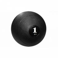 Мяч медицинский (слэмбол) SLAM BALL 1кг ( 23см,черный) Fitnessport Sb-01-slam-ball-1kg