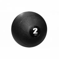 Мяч медицинский (слэмбол) SLAM BALL  2кг ( 23см,черный) Fitnessport Sb-01-slam-ball-2kg