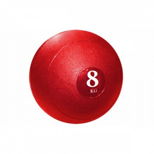 Мяч медицинский (слэмбол) SLAM BALL 8кг ( 23см, Красный) Fitnessport Sb-01-slam-ball-8kg-red