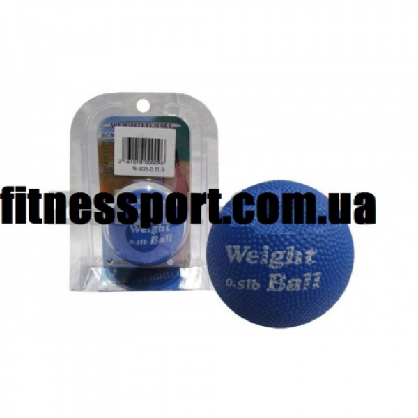 Мяч утяжелитель Weight Ball (60мм,синий) Fitnessport Wb-60mm-0.5Lb