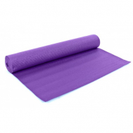 Коврик Yoga mat  PVC  с фиксирующей резинкой фиолетовый Fitnessport Zm-09-1