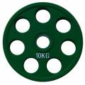 RCP19-10 Alex Цветной диск олимпийский обрезиненный, 10кг