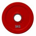 RCP19-5 Цветной диск для штанги обрезиненный, 5 кг
