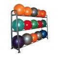 Sf-09-fitbol Стойка для фитболов металическая (серая, 09 мячей)