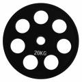 RCP18 - 20 кг Alex Диск олимпийский обрезиненный чёрный