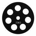 RCP18 - 25 кг Alex Диск олимпийский обрезиненный чёрный